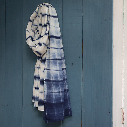 Hand Tie-Dyed Cotton Scarf