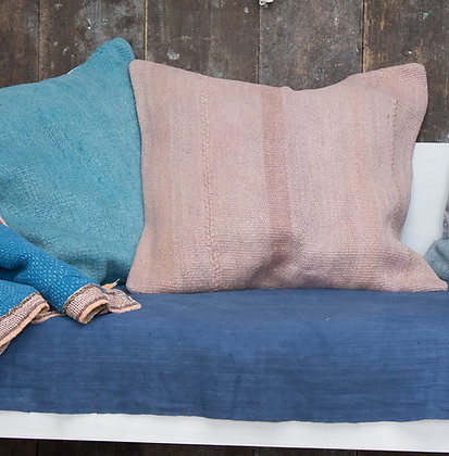 Hand-Dyed Antique Tapis Cushion Cover - Plaster Pink