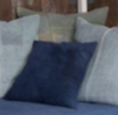 Hand-dyed vintage dust-sheet cushion.jpg