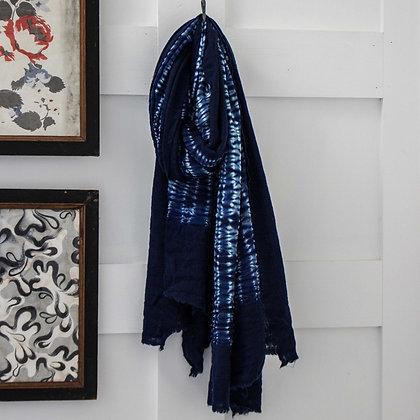 Shibori Tie Dye Merino Wool Scarf
