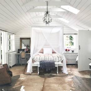 Romantic Bedroom in Rustic Cabin