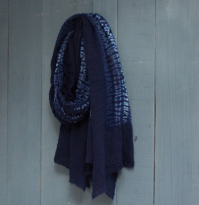 Huge Tie-Dyed Merino Wool Scarf