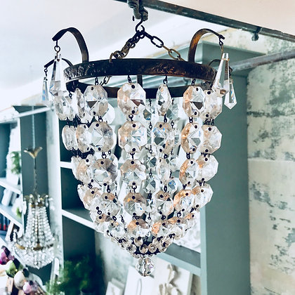 Antique bag of beads chandelier