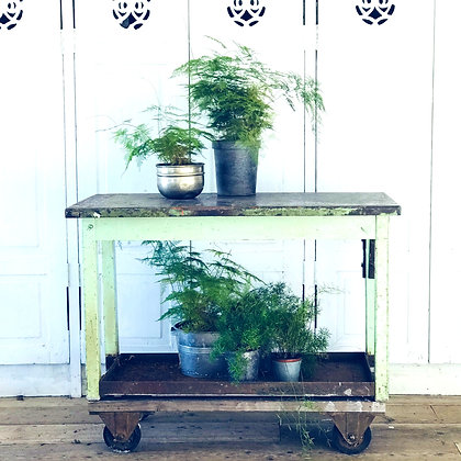 Vintage Indiustrial Trolley Console Table