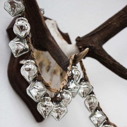Silver Antiqued Bauble Garland