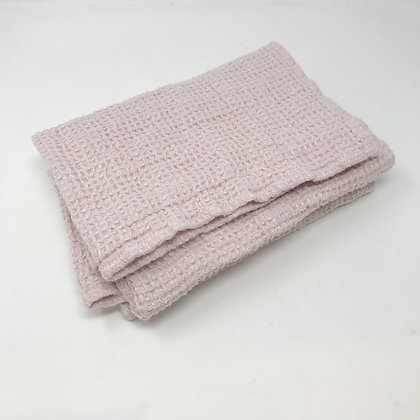 Chunky Waffle Weave Linen Hand Towel Rose