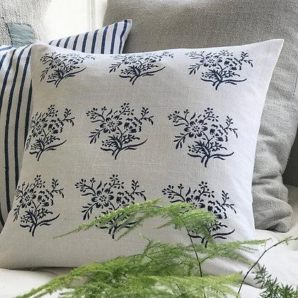 Sprig Cushion Covers-Indigo
