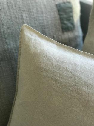 Linen Cushion Cover- Silver