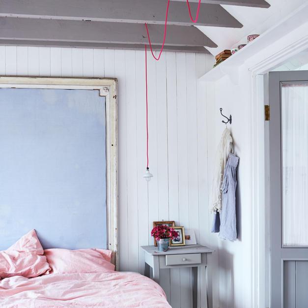 Bespoke headboard in elegant beach house