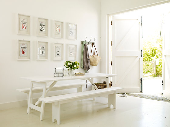 Coast Collection - White Refectory Bench