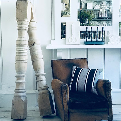 Pair of Antique Carved Wood Pillars