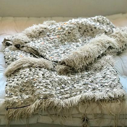 Antique Moroccan Wedding Blanket - Large