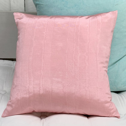 Vintage 1950s Pink Moire Cushion Cover