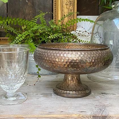 Vintage hand- beaten Silver Bowl