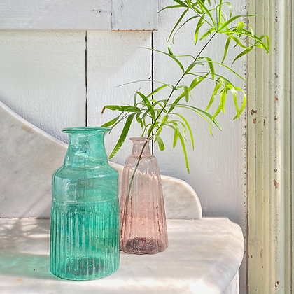 Recycled Glass Vase Set of 2