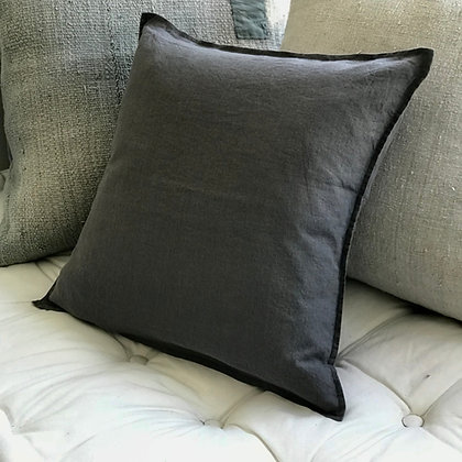 Linen Cushion Cover- Steel Grey