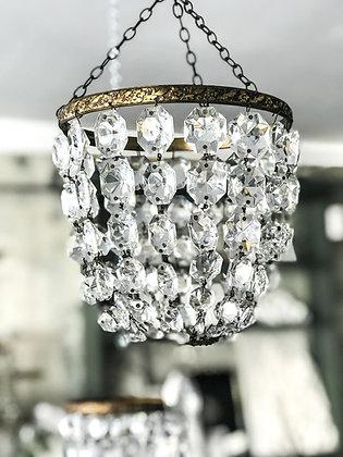 Antique bag of beads chandelier