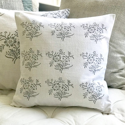 Sprig Cushion Covers-Gustavian Grey