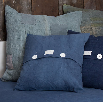 Antique Hand-Dyed Linen Cushion Cover