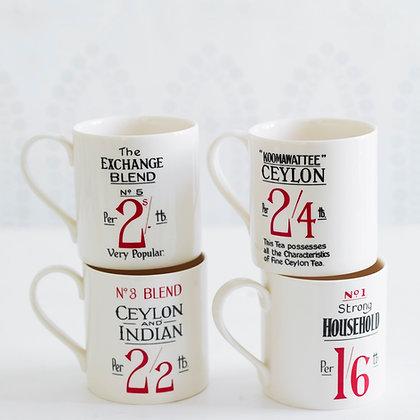 Tea Label Mugs - Exclusive