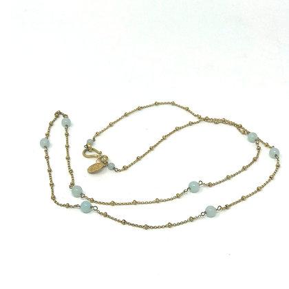 Biba Brass Chain with Semi Precious Stones