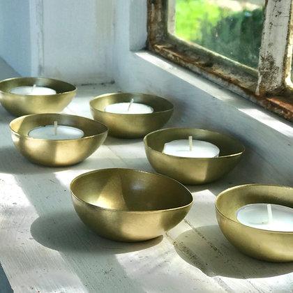 Brassplated Tealight Holders