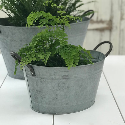 Zinc Tubs -Two Sizes