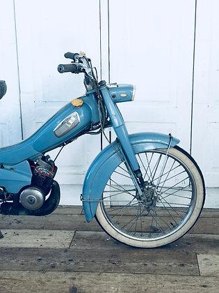 Vintage Blue Mobylette Bike