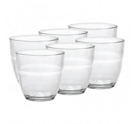 Set of Six Duralex Gigone Bistro Glasses- Large 25cl
