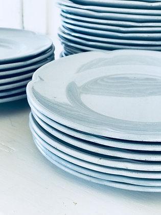 Vintage Blue Ironstone Plates