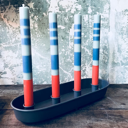 Set of 4 striped candles