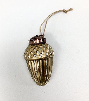 Golden Acorn Ornament - Set of 6