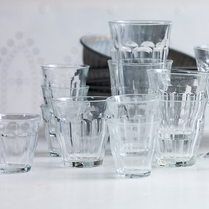 Set of Six Duralex Picardie Glasses- Small 9cl