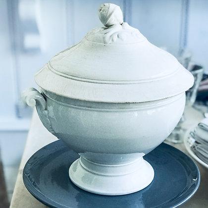 Antique White Tureen