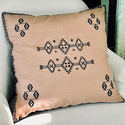 Embroidered Cushion Cover Nude