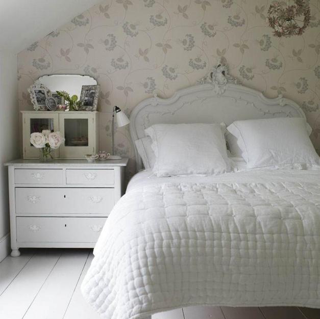 Feminine bedroom in family home