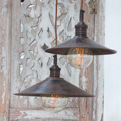 Brass Pendant Light Large