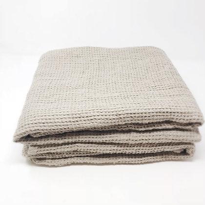 Chunky Waffle Weave Linen Bath Towel Natural