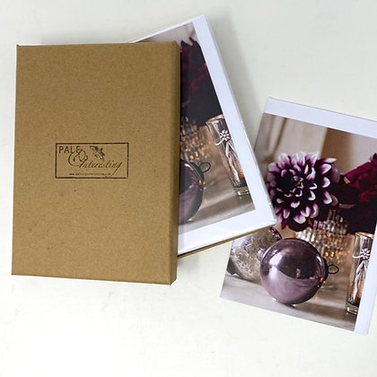 Set of 6 Christmas cards- Bauble and Dahlia