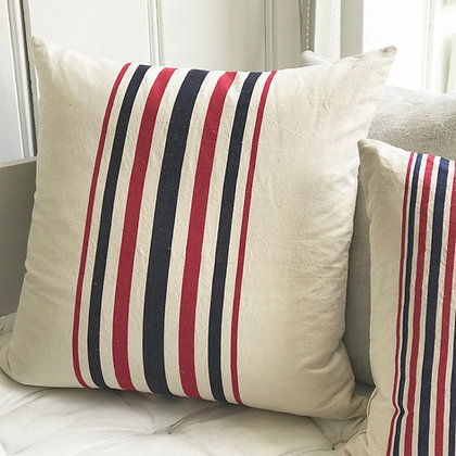 Vintage French Striped Cushion Covers-Large