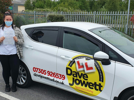 Congratulations Chloe on passing your driving test