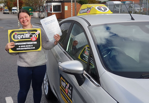 Courtney from Loscoe after passing her driving test with Dave Jowett ADI first time