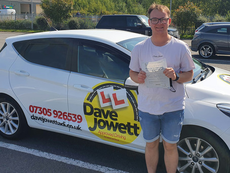 Congratulations Callam on passing your test!!