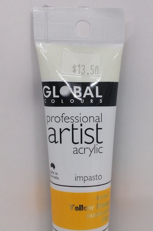 Global professional artist acrylic impasto series 2 yellow deep 75ml