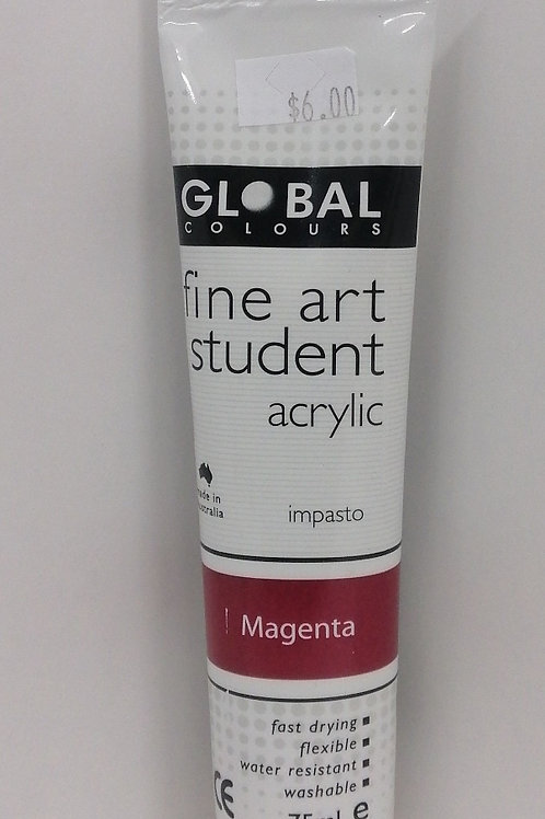 Global fine art student acrylic impasto magenta 75ml