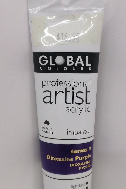 Global professional artist acrylic impasto series 3 dioxazine purple 75ml