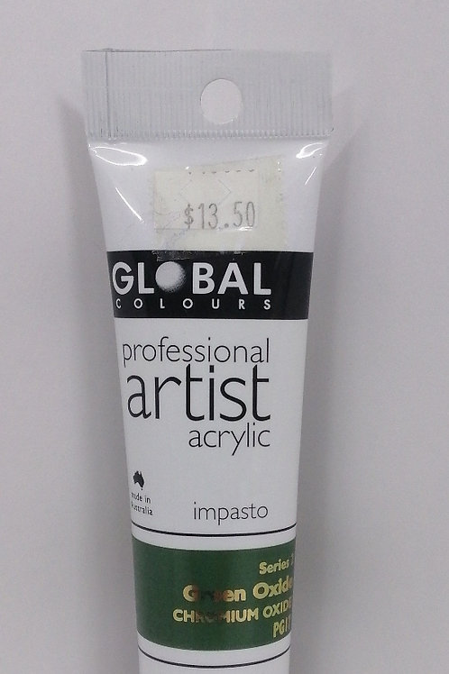 Global professional artist acrylic impasto series 2 green oxide 75ml