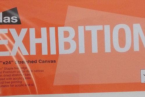 Das exhibition 12 x 24 inch stretched canvas