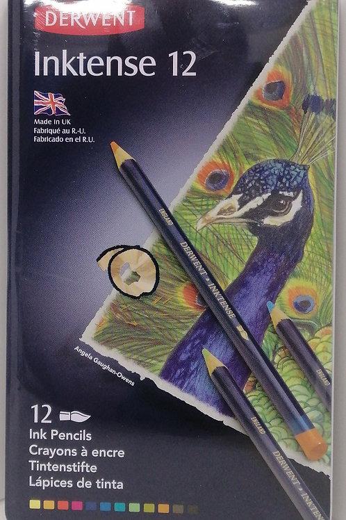 Derwent inktense pencils tin, set of 12