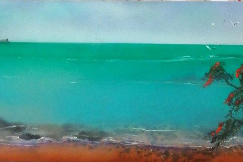 Manaia by Lyn Grey 38x75cm